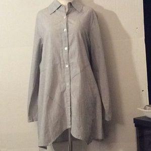 NWT Tulip White & Gray B/down L/sleeves tunic # M